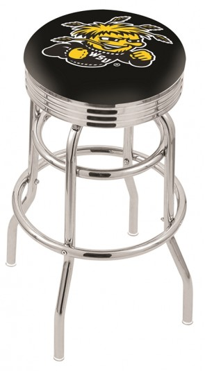 L7C3C Wichita State University Logo Bar Stool