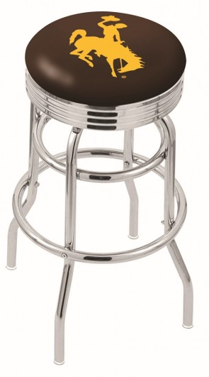 L7C3C University of Wyoming Logo Bar Stool