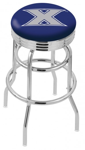 L7C3C Xavier University Logo Bar Stool