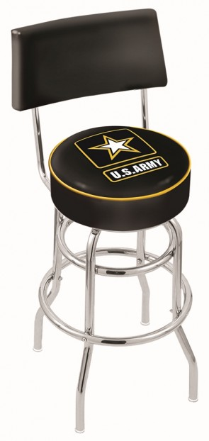 L7C4 US Army Logo Bar Stool