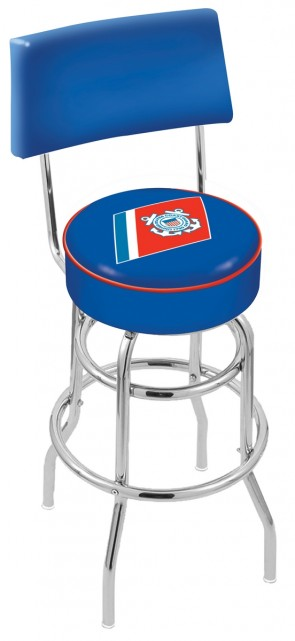 L7C4 US Coast Guard Logo Bar Stool