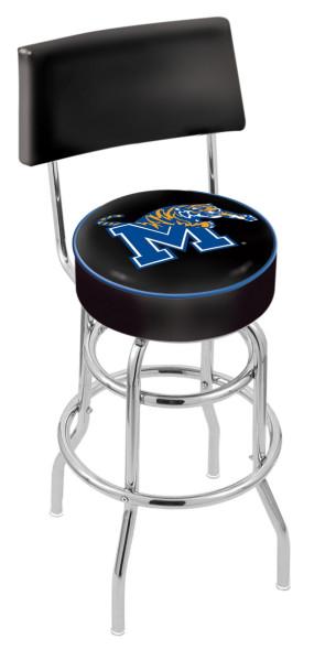 L7C4 University of Memphis Logo Bar Stool
