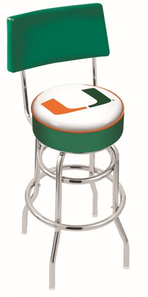 L7C4 University of Miami Logo Bar Stool
