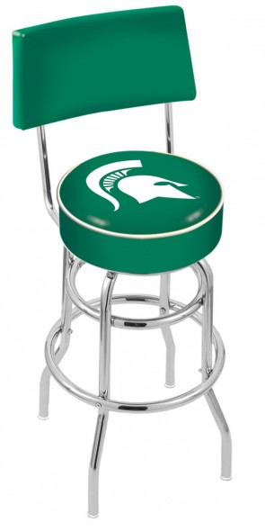 L7C4 Michigan State University Logo Bar Stool