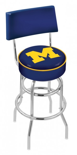 L7C4 University of Michigan Logo Bar Stool