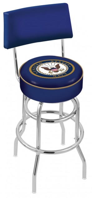 L7C4 US Navy Logo Bar Stool