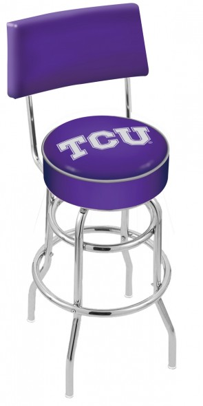 L7C4 Texas Christian University Logo Bar Stool