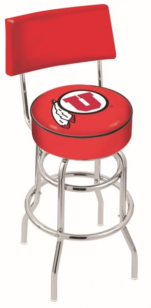 L7C4 University of Utah Logo Bar Stool