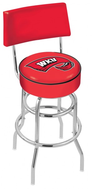 L7C4 Western Kentucky University Logo Bar Stool