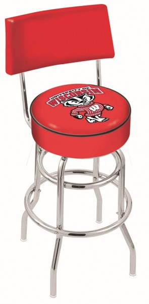 L7C4 University of Wisconsin - Bucky Logo Bar Stool