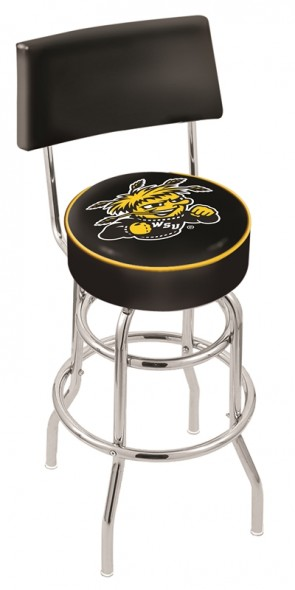 L7C4 Wichita State University Logo Bar Stool