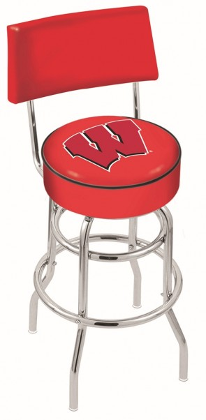 L7C4 University of Wisconsin - W Block Logo Bar Stool