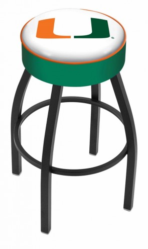 L8B1 University of Miami Logo Bar Stool