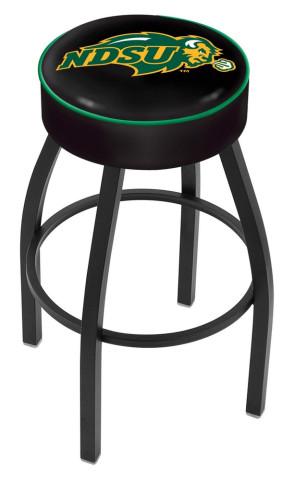 L8B1 North Dakota State Logo Bar Stool - Black
