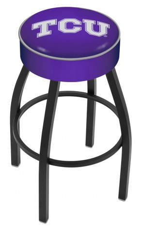 L8B1 Texas Christian University Logo Bar Stool