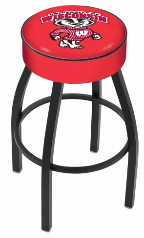 L8B1 University of Wisconsin - Bucky Logo Bar Stool
