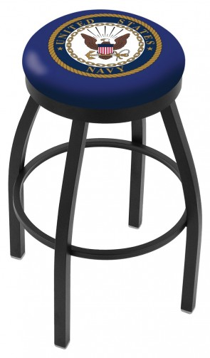 L8B2B US Navy Logo Bar Stool