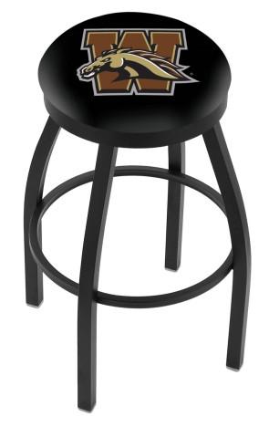 L8B2B Western Michigan University Logo Bar Stool