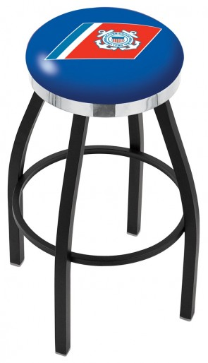 L8B2C US Coast Guard Logo Bar Stool