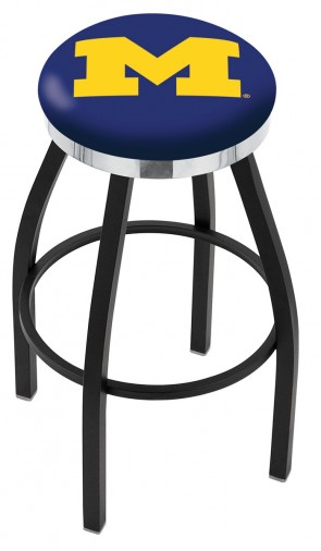 L8B2C University of Michigan Logo Bar Stool
