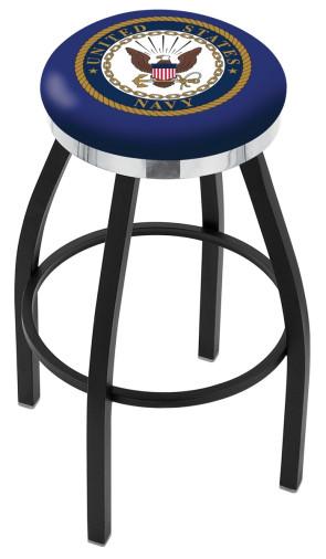 L8B2C US Navy Logo Bar Stool