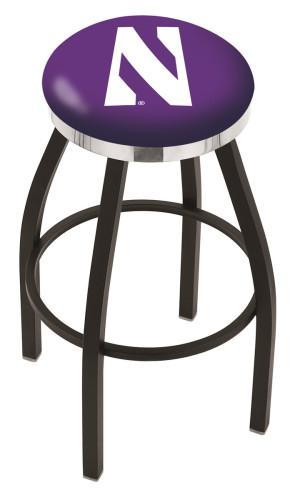 L8B2C Northwestern University Logo Bar Stool
