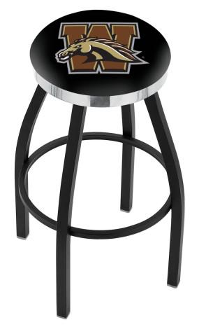 L8B2C Western Michigan University Logo Bar Stool