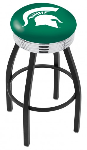 L8B3C Michigan State University Logo Bar Stool