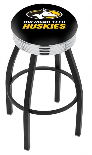 L8B3C Michigan Tech Logo Bar Stool