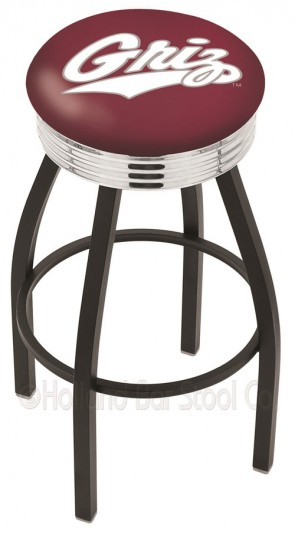 L8B3C University of Montana Logo Bar Stool