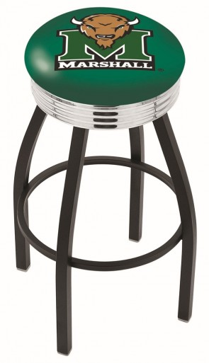 L8B3C Marshall University Logo Bar Stool