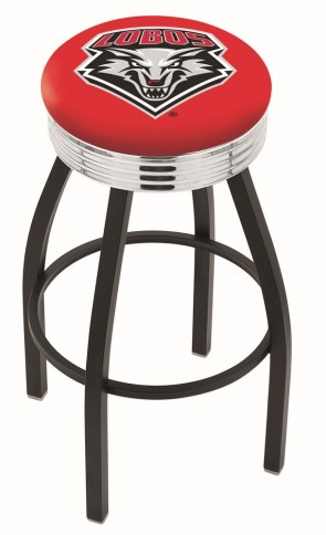 L8B3C University of New Mexico Logo Bar Stool