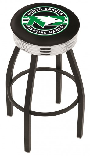 L8B3C University of North Dakota Logo Bar Stool