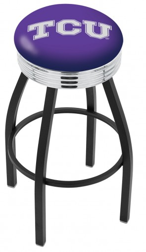 L8B3C Texas Christian University Logo Bar Stool