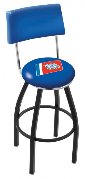 L8B4 US Coast Guard Logo Bar Stool
