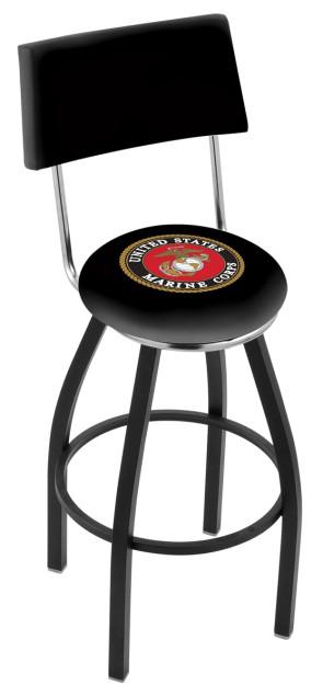 L8B4 Us Marine Corps Logo Bar Stool