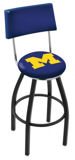 L8B4 University of Michigan Logo Bar Stool