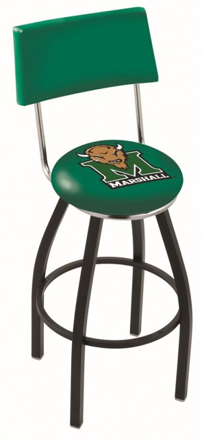 L8B4 Marshall University Logo Bar Stool