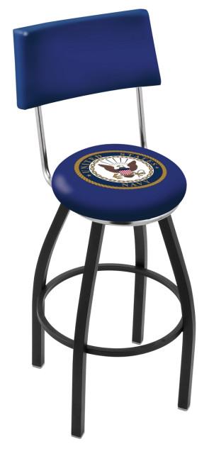 L8B4 US Navy Logo Bar Stool