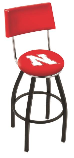 L8B4 University of Nebraska Logo Bar Stool