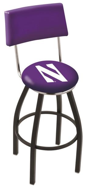 L8B4 Northwestern University Logo Bar Stool