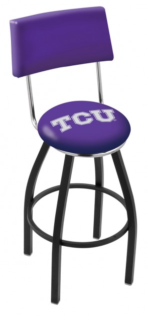 L8B4 Texas Christian University Logo Bar Stool