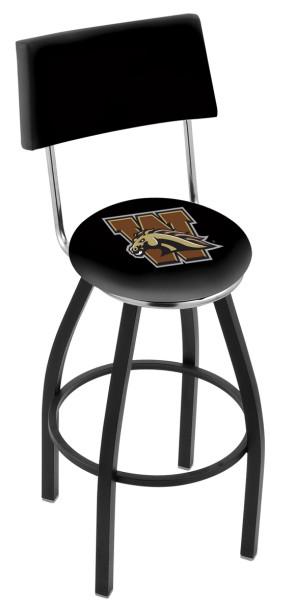 L8B4 Western Michigan University Logo Bar Stool