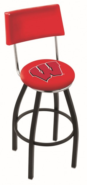 L8B4 University of Wisconsin - W Block Logo Bar Stool