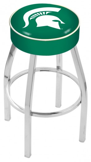 L8C1 Michigan State University Logo Bar Stool