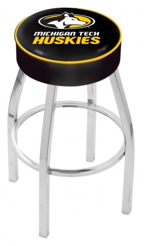 L8C1 Michigan Tech Logo Bar Stool