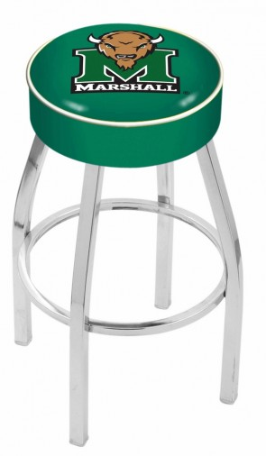 L8C1 Marshall University Logo Bar Stool