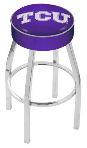 L8C1 Texas Christian University Logo Bar Stool
