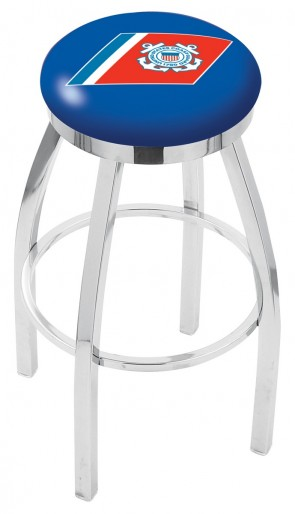 L8C2C US Coast Guard Logo Bar Stool