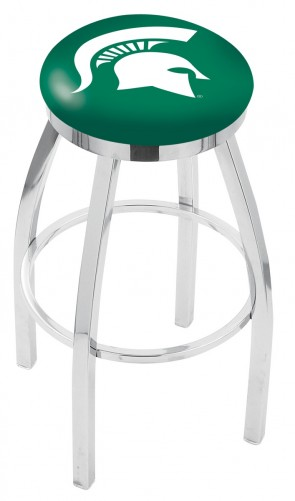 L8C2C Michigan State University Logo Bar Stool